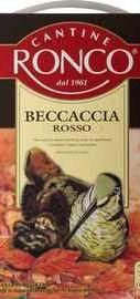 Вино столовое красное сухое  «Becaccia Rosso»