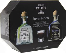 Текила «Patron Silver & Patron XO Cafe with 2 glasses» набор с двумя бокалами.