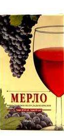 Вино столовое красное полусладкое «Виктория Торговый Дом Мерло»