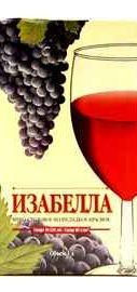 Вино столовое красное полусладкое «Виктория Торговый Дом Изабелла»