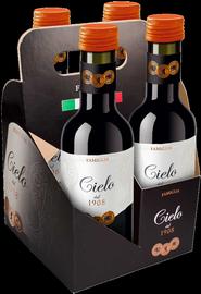 Вино красное сухое «Cielo E Terra Merlot» 2012 г., подарочный набор из 4-х бутылок.