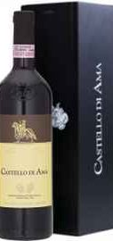 Вино красное сухое «Castello di Ama Chianti Classico Riserva» 2009 г. в подарочной упаковке.