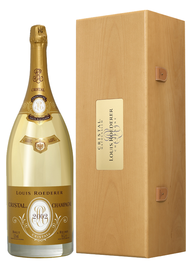 Шампанское белое брют «Louis Roederer Cristal» 2002 г. в подарочной упаковке