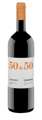 Вино красное сухое «50 & 50» 2010 г.