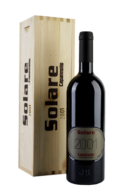 Вино красное сухое  «Solare» 2001 г. в подарочном деревянном футляре