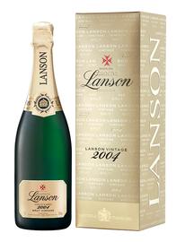 Шампанское белое брют «Lanson Gold Label Brut Vintage» 2002 г. в подарочной упаковке