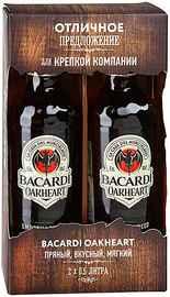 Ром «Bacardi OakHeart» набор из двух бутылок