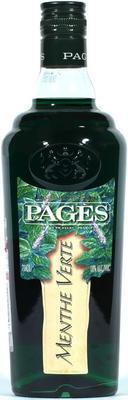 Ликер «Pages Menthe Verte»