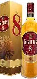 Виски шотландский «Grant's 8 Years Old» в подарочной упаковке
