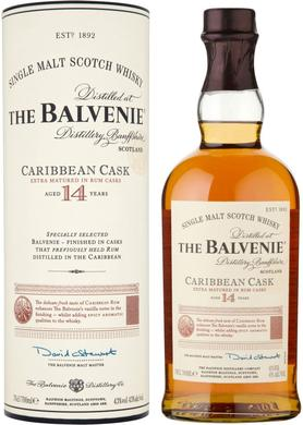 Виски шотландский «Balvenie Caribbean Cask 14 Years Old» в тубе