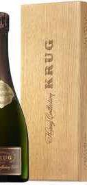 Шампанское белое брют «Krug Collection» 1989 г., в в деревянной коробке