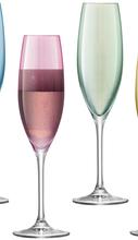 «Polka Champagne Flute Pastel Assorted» набор из 4-х бокалов для шампанского.
