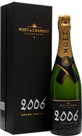 Шампанское белое брют «Moet & Chandon Brut Vintage» 2006 г., в подарочной упаковке