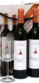 Вино красное сухое «Condesa de Leganza Crianza» в подарочной коробке (2 бутылки & бокал)