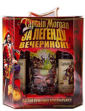 Набор «Captain Morgan Spiced Gold» 2 бутылки + кружка