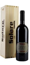 Вино красное сухое «Solare» 1997 г. в подарочном деревянном футляре