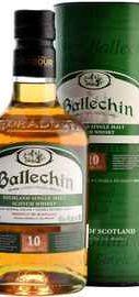 Виски шотландский «Ballechin 10 Years Old» в тубе