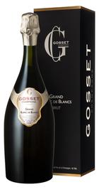 Шампанское белое брют «Gosset Grand Blanc de Blancs Brut» в подарочной упаковке