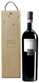 Вино красное сухое «Taurasi» 2009 г. в деревянной коробке