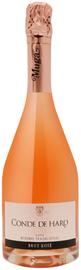 Вино игристое розовое брют «Cava Conde de Haro Rose» в подарочной упаковке