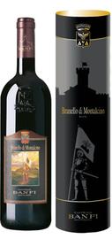 Вино красное сухое «Castello Banfi Brunello di Montalcino» 2008 г., в подарочной упаковке