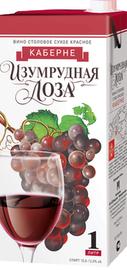 Вино столовое красное сухое «Изумрудная лоза Каберне (Тетра Пак)»