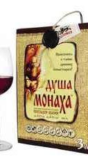 Вино столовое красное полусладкое «Душа Монаха, 3 л»