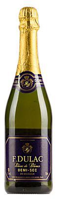 Вино игристое белое полусухое «Francois Dulac Demi-Sec»