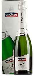 Вино игристое белое сладкое «Cinzano Asti» в подарочной упаковке
