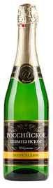 Российское шампанское белое полусладкое  «Искушение»