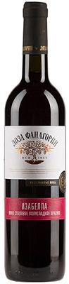 Вино столовое красное полусладкое «Изабелла Фанагории»