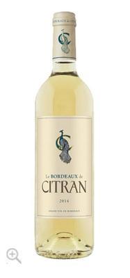 Вино белое сухое «Le Bordeaux de Citran Blanc, 0.75 л» 2014 г.