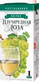 Вино столовое белое полусладкое «Изумрудная Лоза (Тетра Пак)»