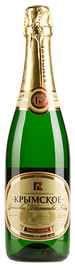 Российское шампанское белое полусладкое «Крымский винный завод Крымское»