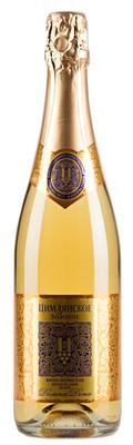 Вино игристое белое полусладкое «Цимлянское Золотое»