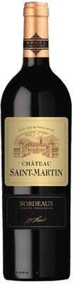 Вино красное сухое «Chateau Saint-Martin» 2014 г.