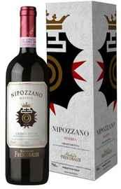 Вино красное сухое «Marchesi de Frescobaldi Nipozzano Riserva» 2012 г. в подарочной упаковке