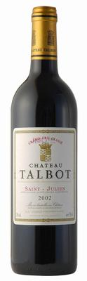 Вино красное сухое «Chateau Talbot Saint-Julien Grand Cru Classe» 2002 г.