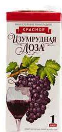 Вино красное полусладкое  «Изумрудная Лоза (Тетра Пак)»