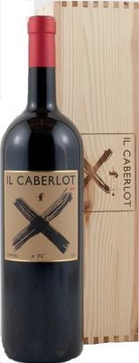 Вино красное сухое «Il Caberlot» 2010 г. в подарочном деревянном футляре