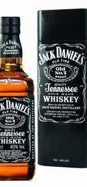 Виски американский «Jack Daniels №7 Tennessee» в подарочной упаковке из металлической сетки