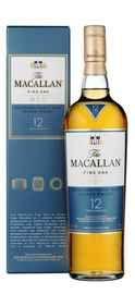 Виски шотландский «Macallan Fine Oak» + зажим, в подарочной упаковке