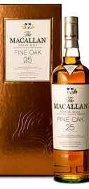 Виски шотландский «Macallan Fine Oak 25 Years Old» в подарочной упаковке