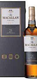 Виски шотландский «Macallan Fine Oak 21 Years Old» в подарочной упаковке