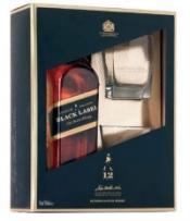 Виски шотландский «Johnnie Walker Black Label»  + 2 стакана
