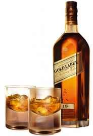 Виски шотландский «Johnnie Walker Gold Label Reserve» в подарочной упаковке + 2 стакана