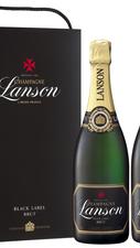 Набор Шампанское белое брют «Lanson Black Label»