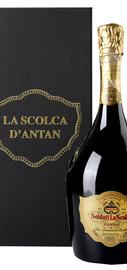 Вино игристое белое брют «Ла Сколька Брют Миллезимато Д'Антан» 2003 г. в подарочной упаковке