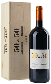 Вино красное сухое «Avignonesi-Capannelle 50 & 50 Vino da Tavola di Toscana» 2008 г. в деревянной коробке