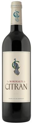 Вино красное сухое «Le Bordeaux de Citran, 0.75 л» 2014 г.
